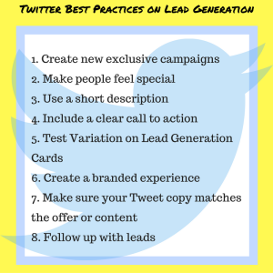 Twitter Best Practices on Lead Generation