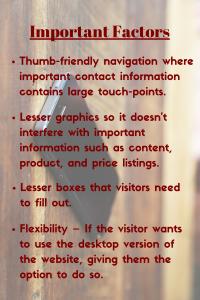 Important Factors for Mobile Optimization