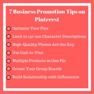 7 Business Promotion Tips on Pinterest